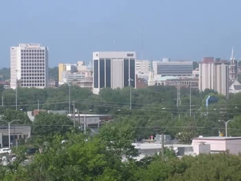 view of downtown Macon, GA